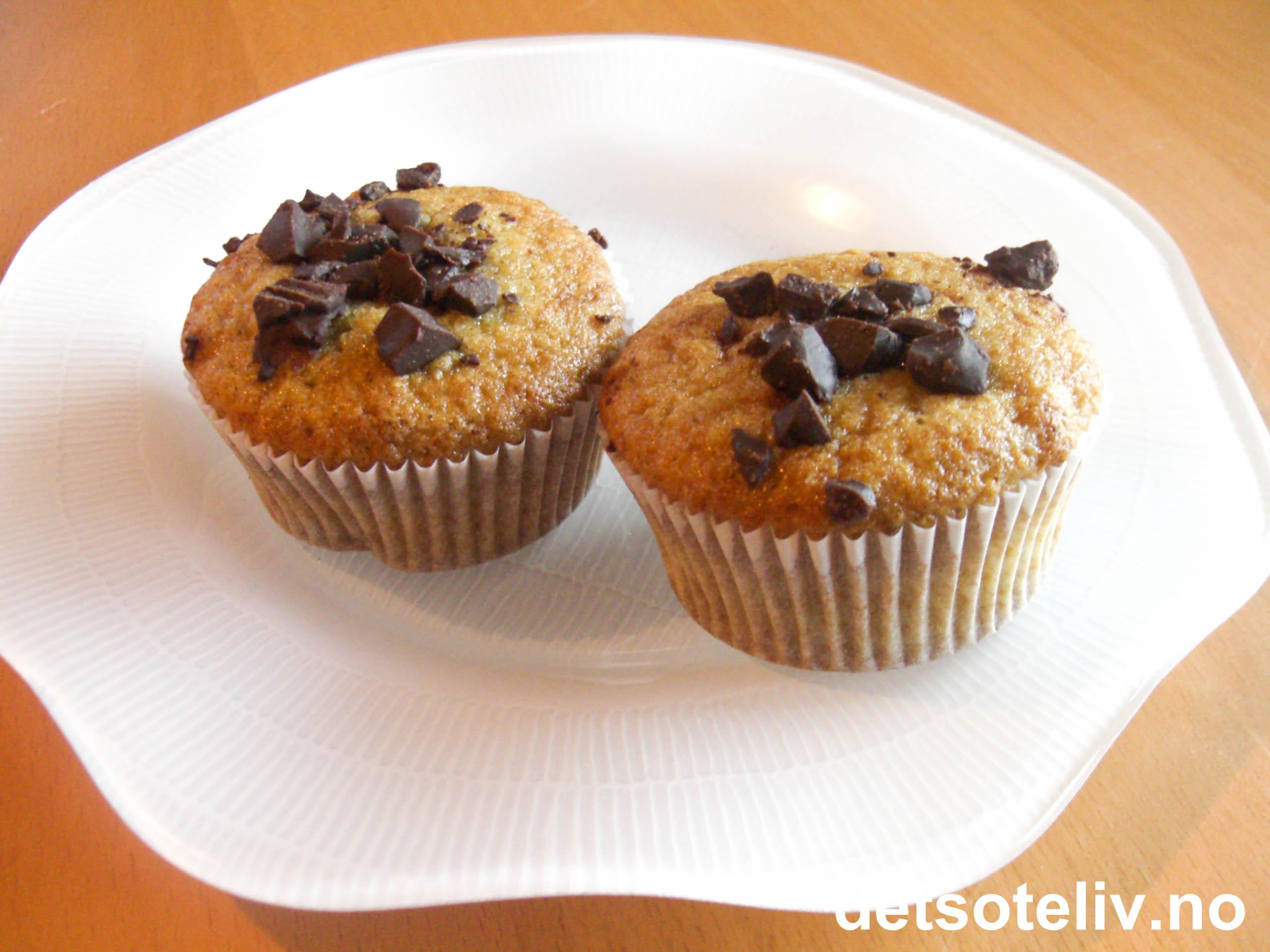 muffins sjokoladebiter