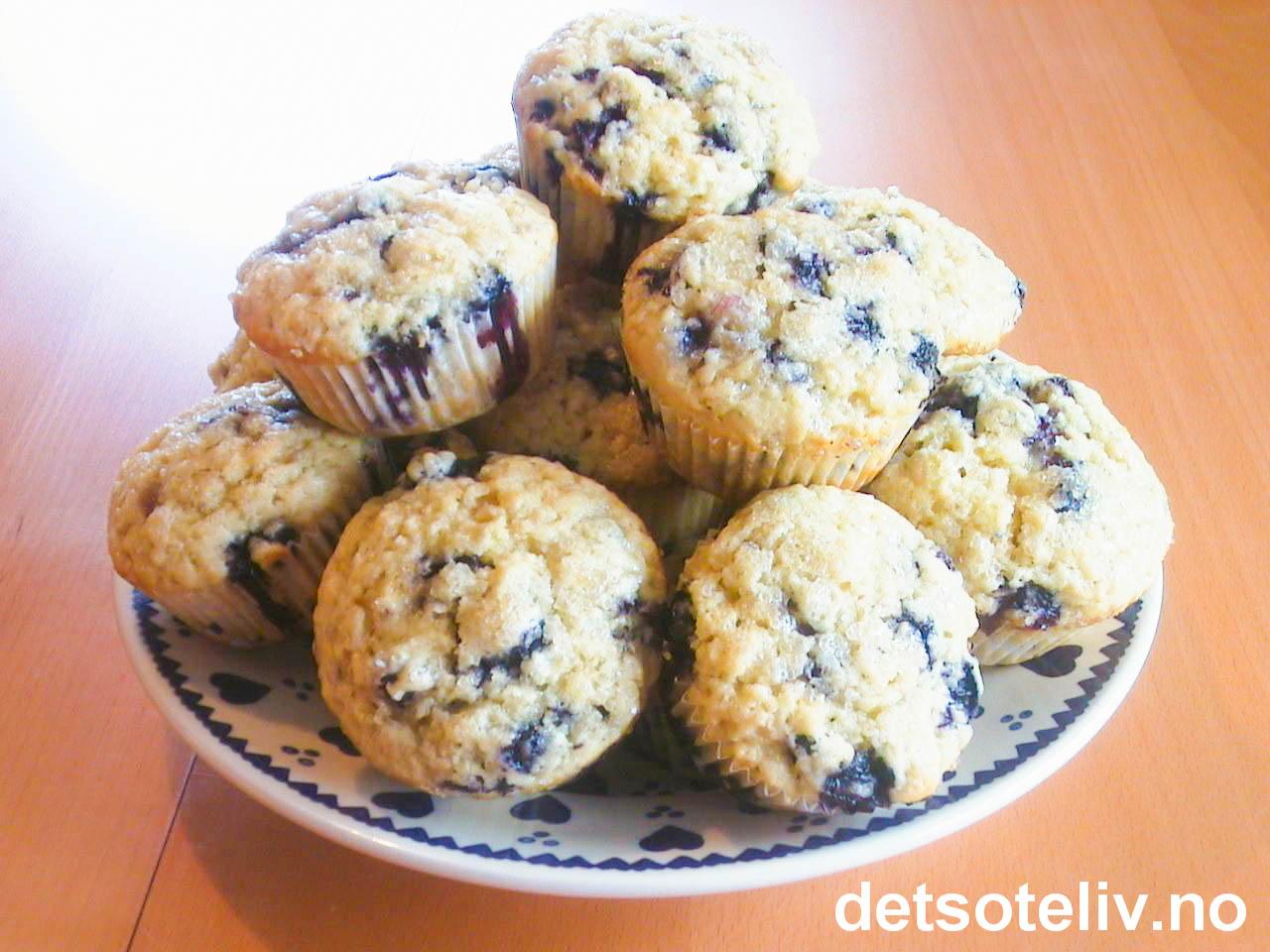 Blåbærmuffins | Det søte liv