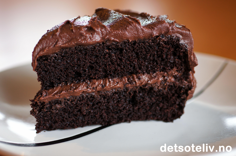 sjokoladekake med olje oppskrift
