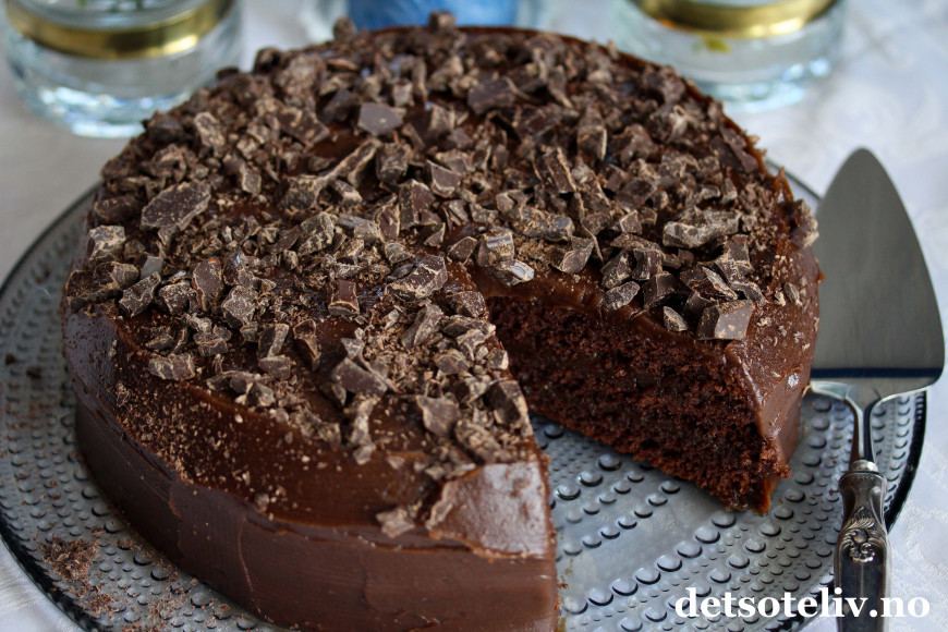 detsoteliv sjokoladekake