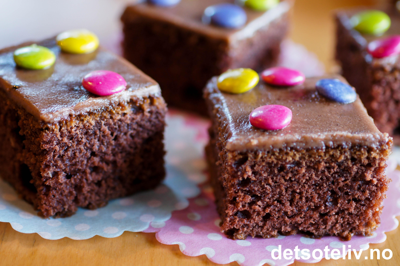 sjokoladekake med kefir og oboy