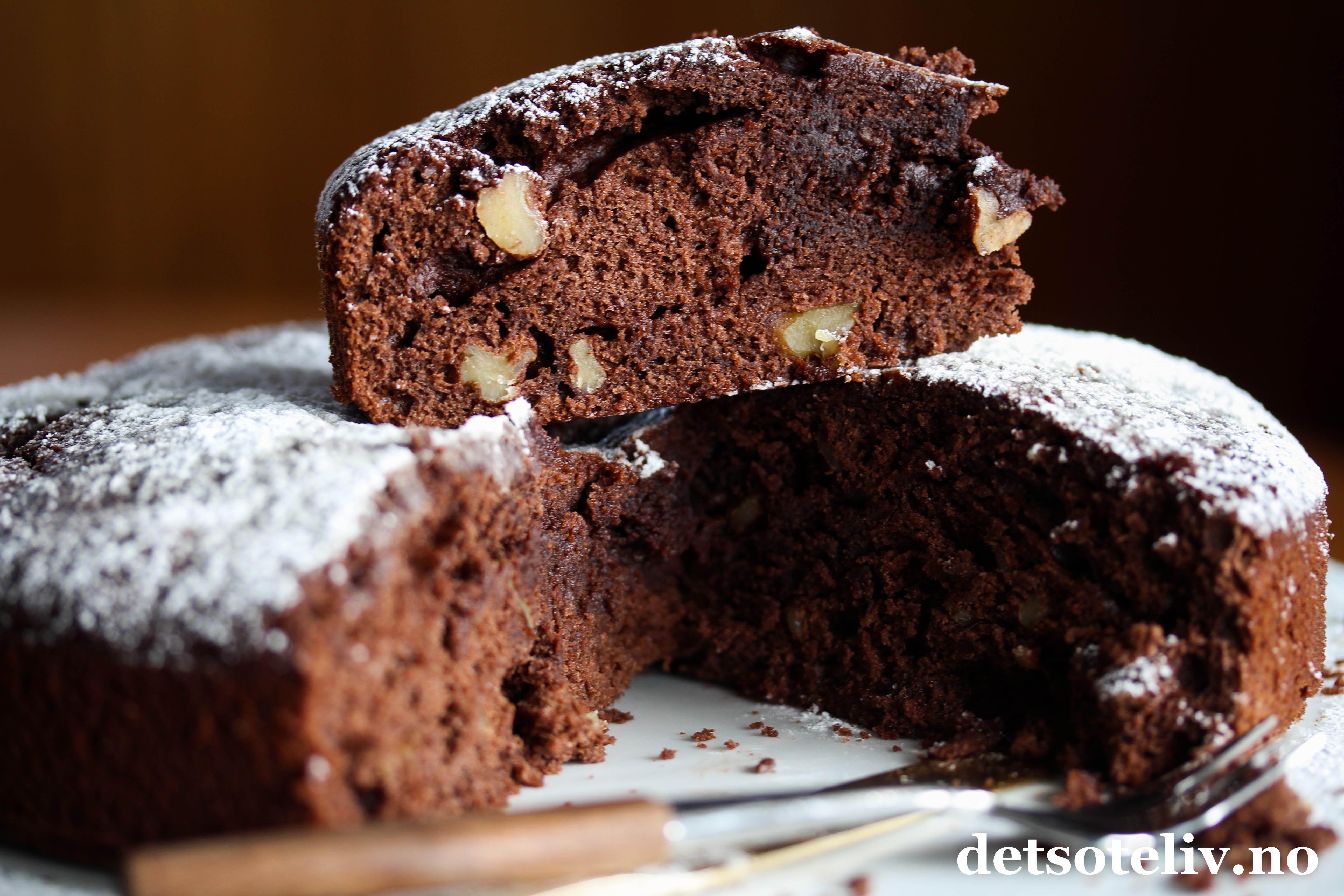 sunn sjokoladekake oppskrift
