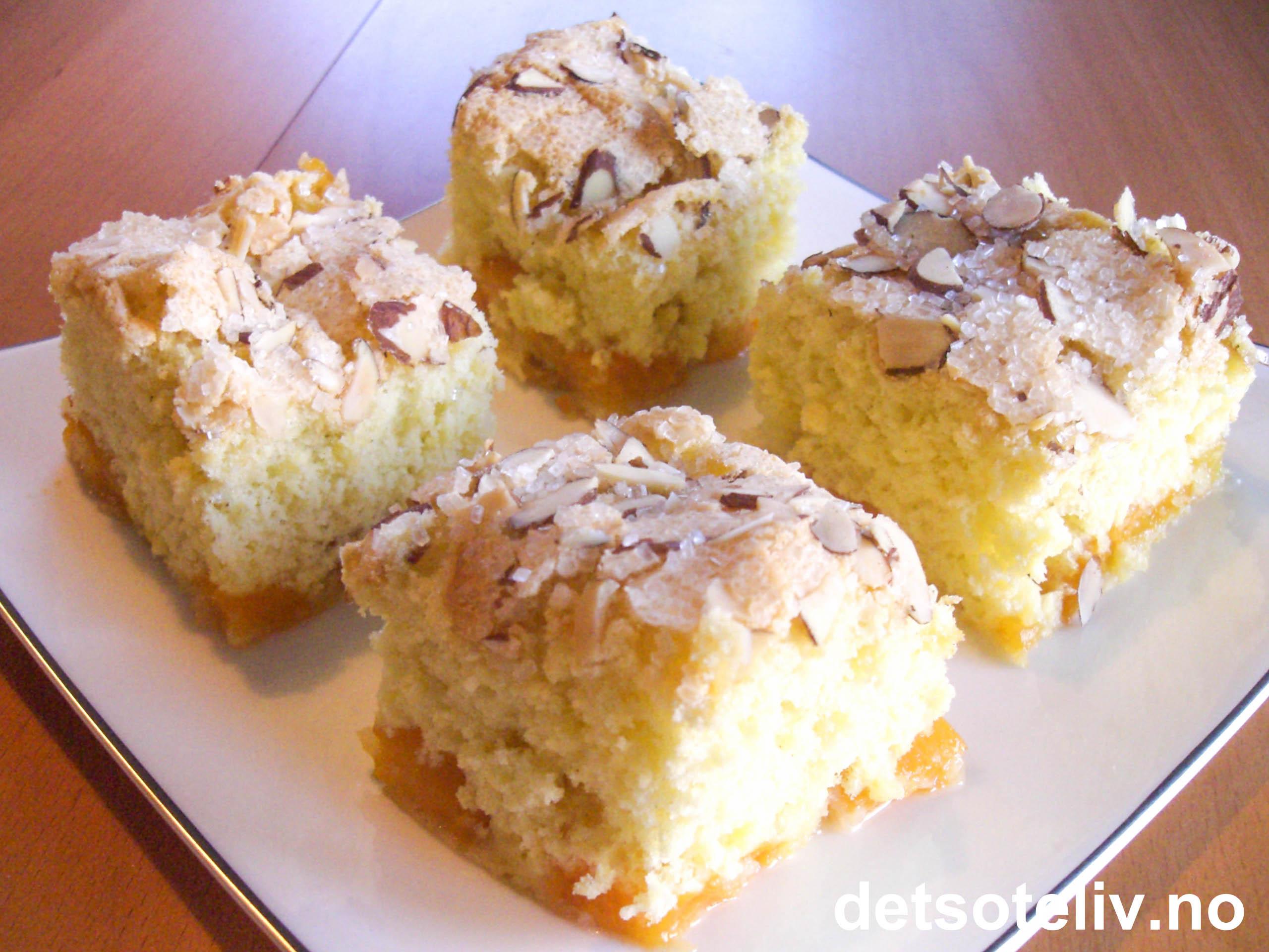kake med hvit sjokolade